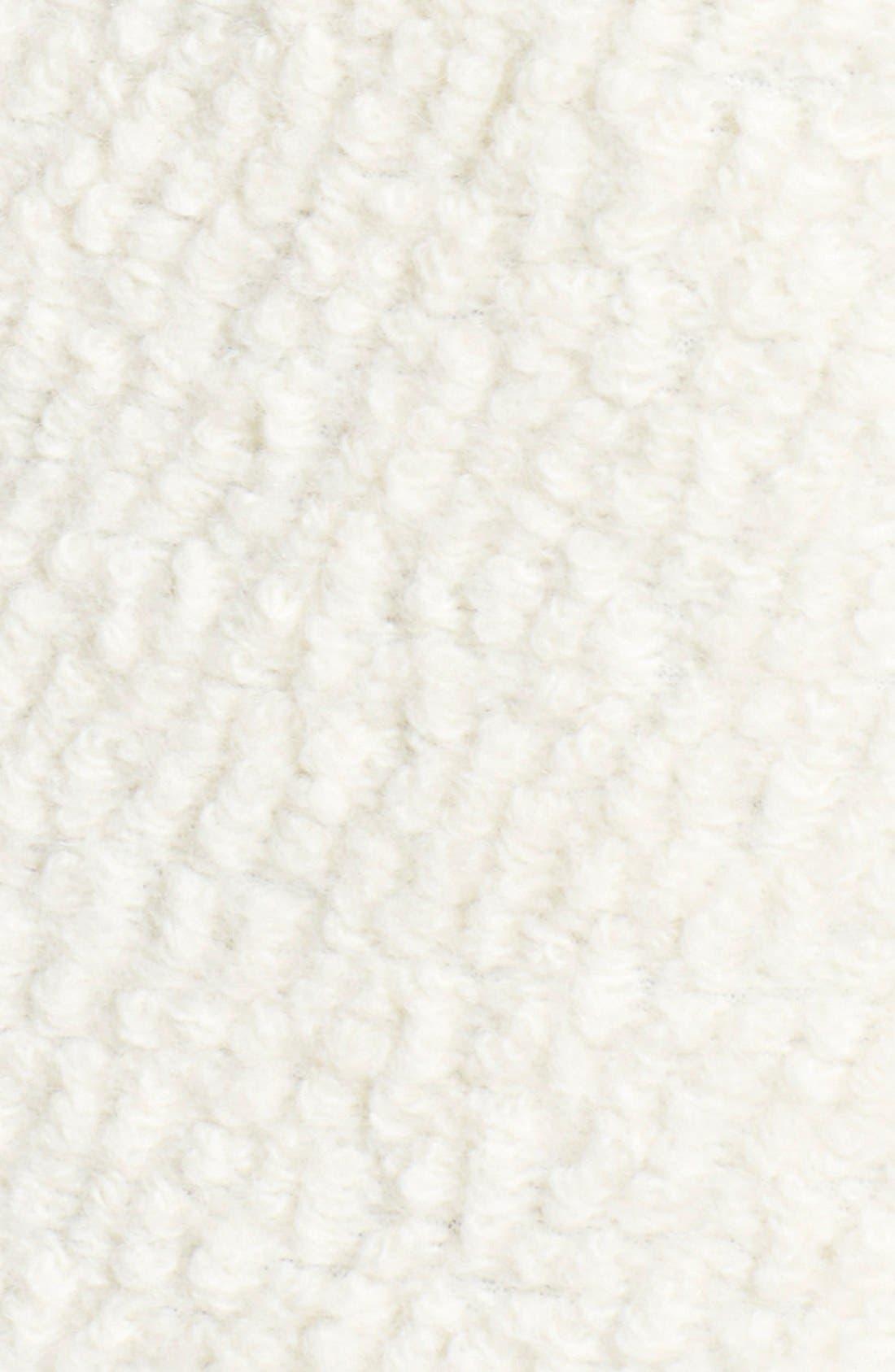 ,                             Colorblock Faux Leather Bouclé Knit Coat,                             Alternate thumbnail 4, color,                             900