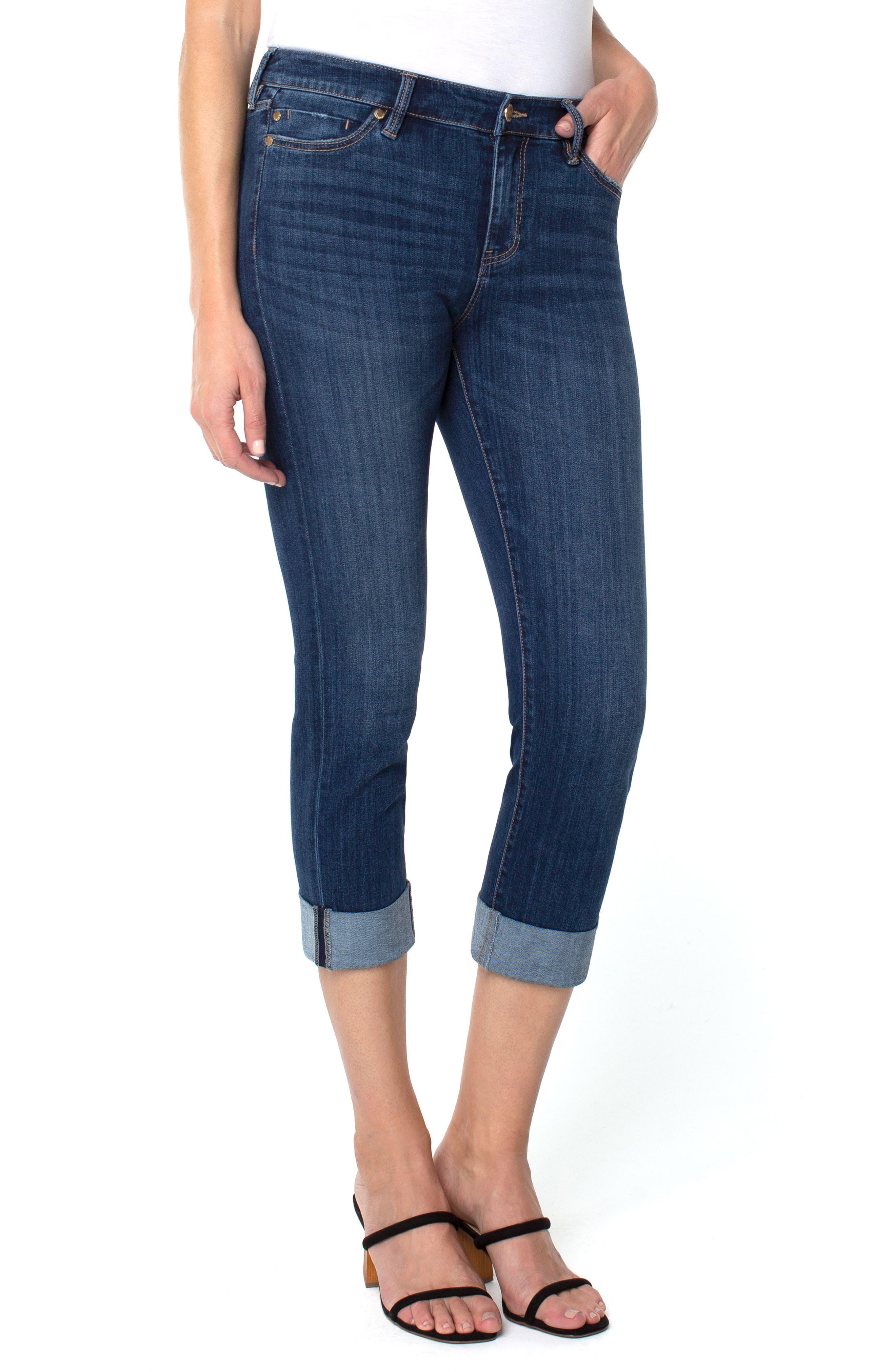 Charlie Wide Cuff Capri Jeans