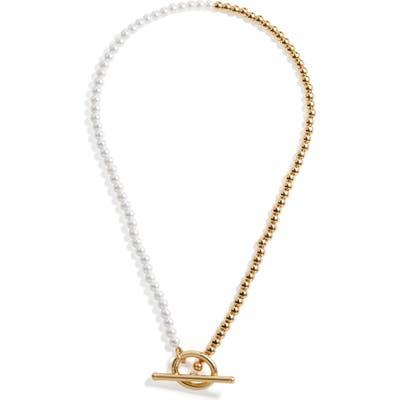 Baublebar Imitation Pearl & Bead Toggle Choker Necklace