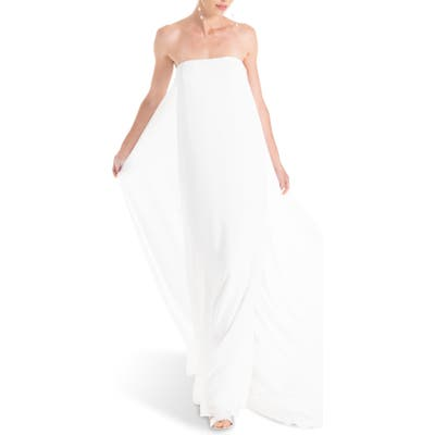 Joanna August Joni Strapless Column Wedding Dress, White