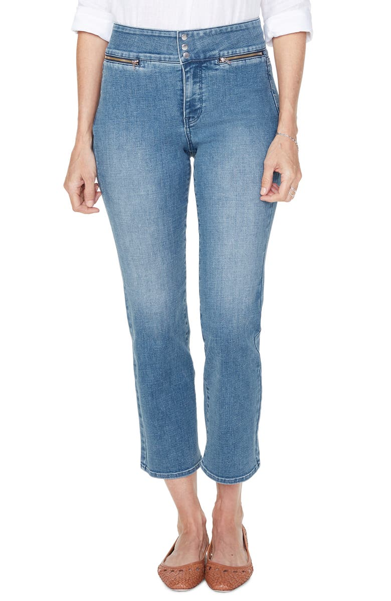 NYDJ Marilyn Ankle Straight Leg Jeans, Main, color, CLEAN BRICKELL