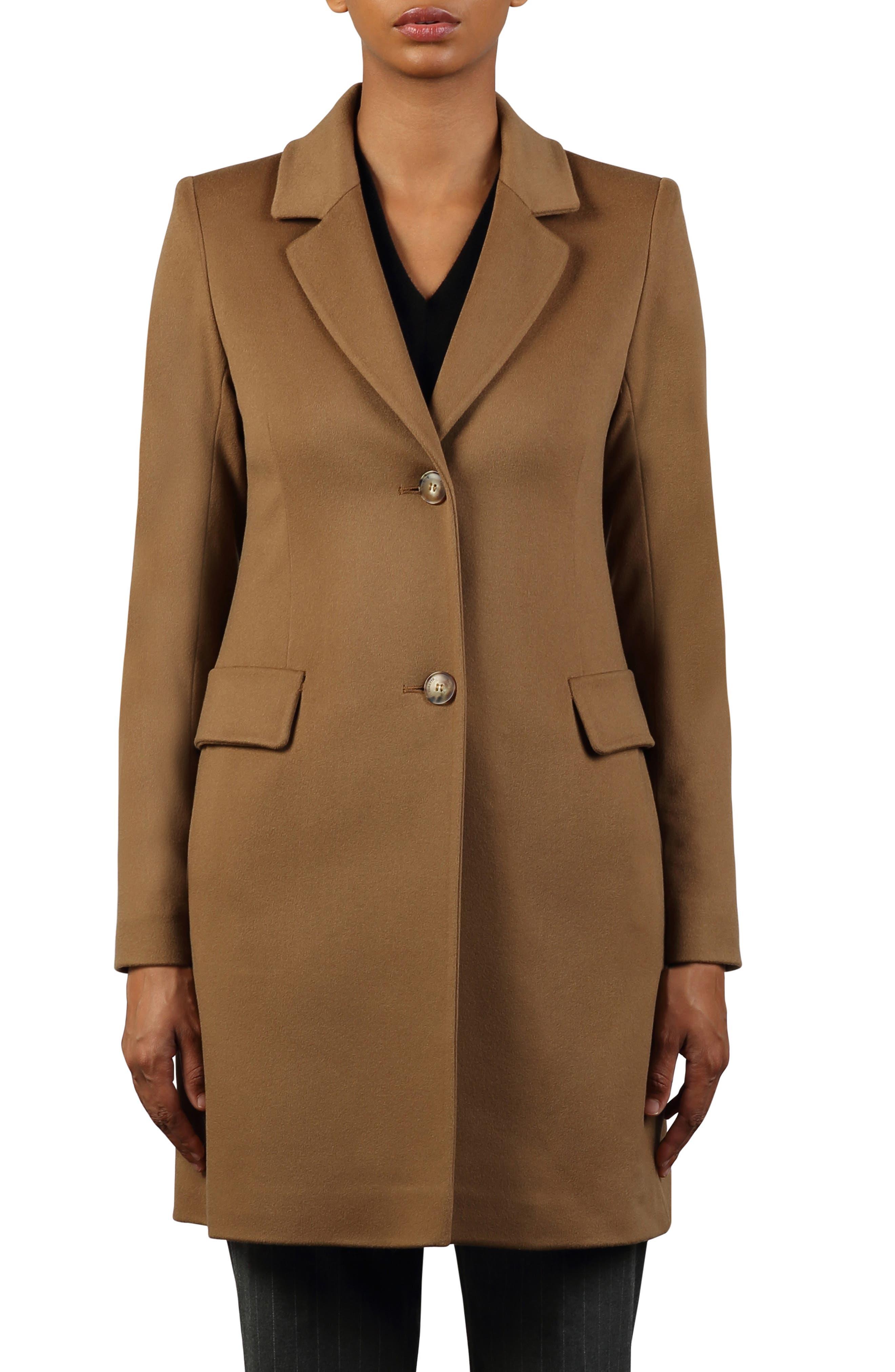 Notched Collar Wool Walker Coat