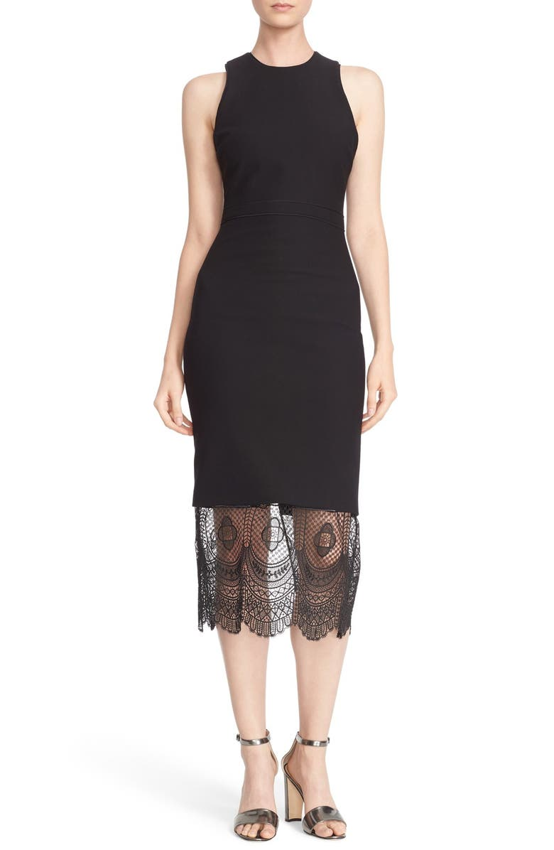 Cinq 224 Sept Jolie Lace Hem Sheath Dress Nordstrom