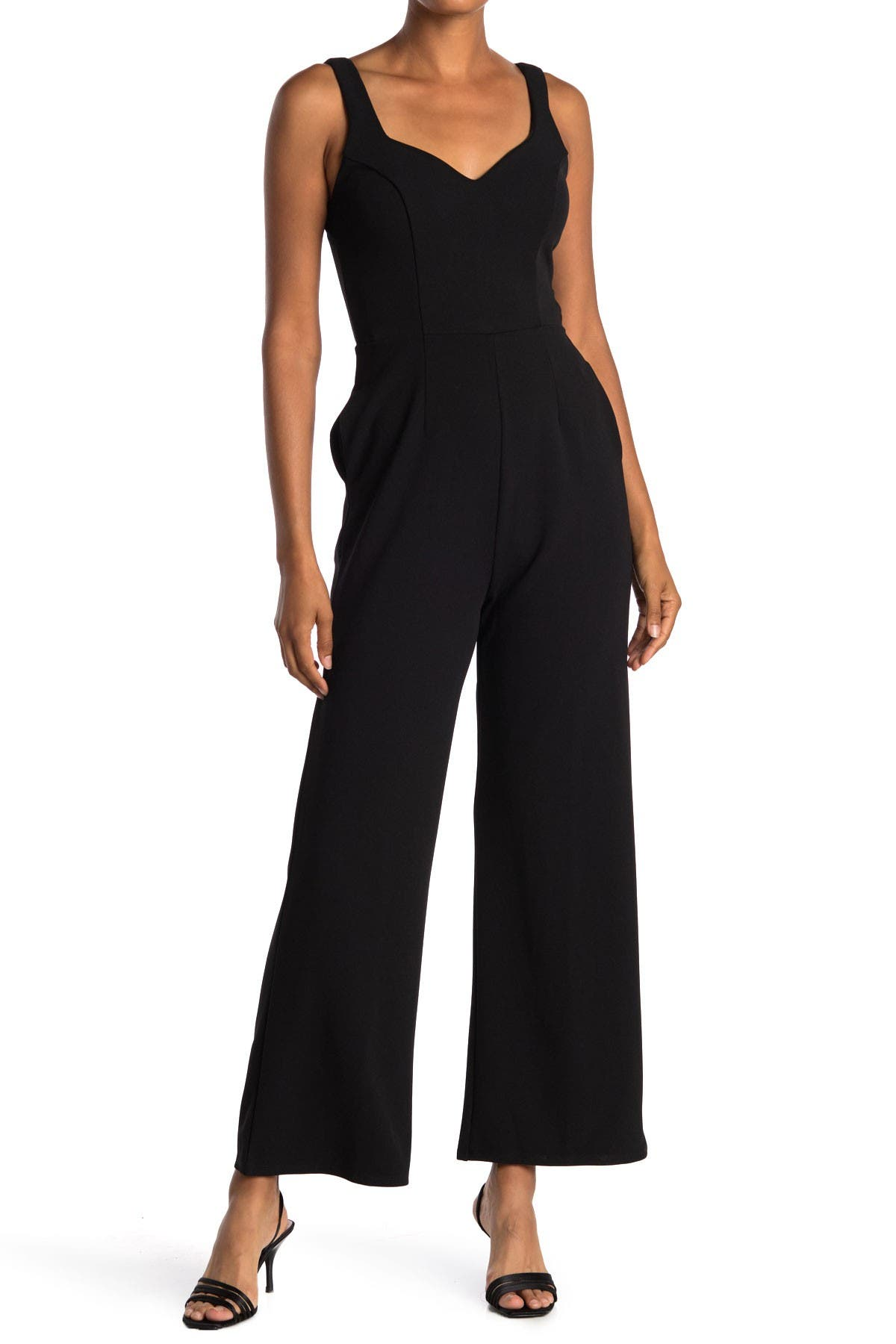 Image of ROW A Sweetheart Neckline Jumpsuit