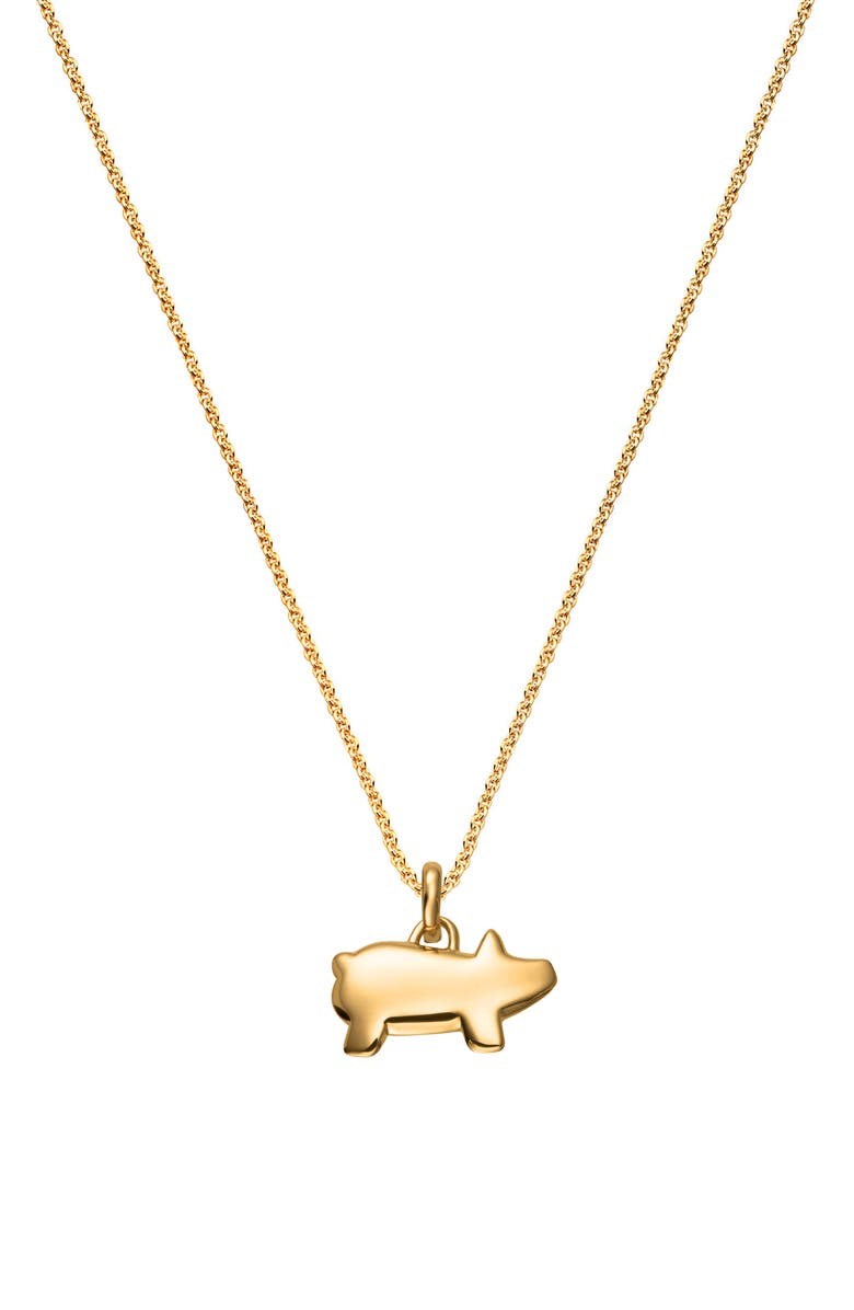 MONICA VINADER Chinese Zodiac Bessie the Pig Pendant Charm, Main, color, GOLD