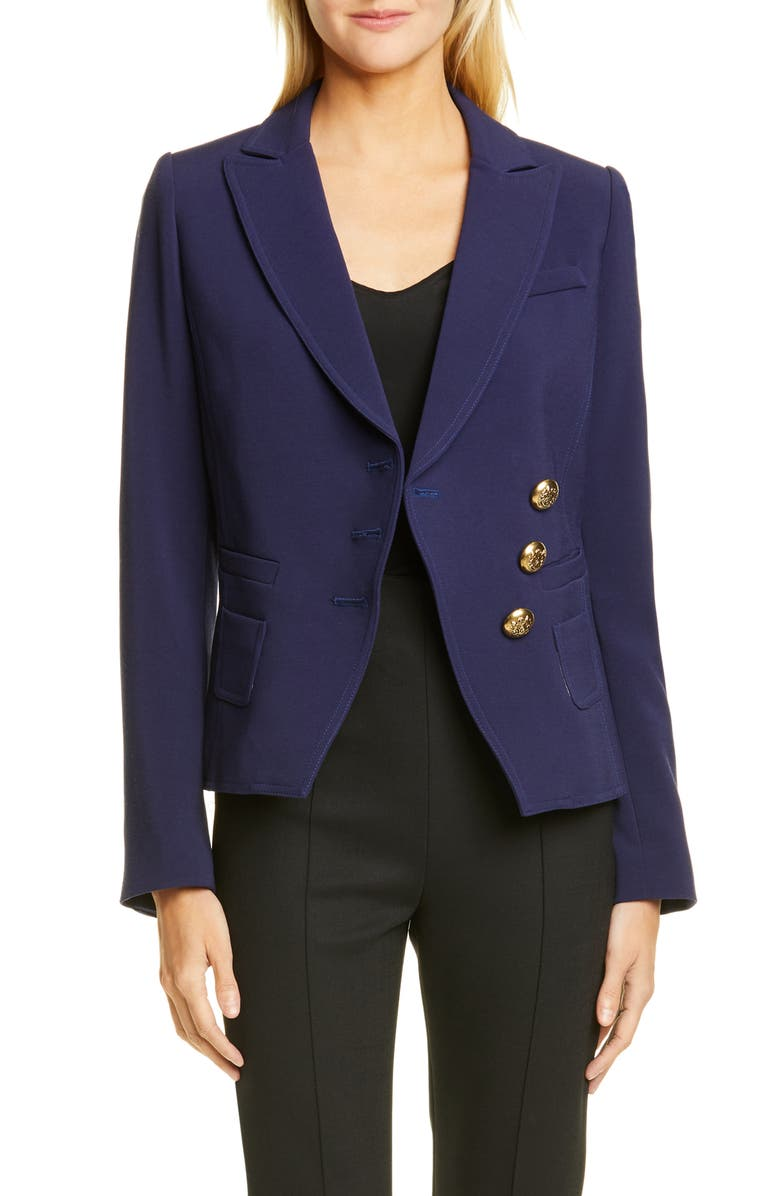 SMYTHE Wrap Blazer, Main, color, NAVY