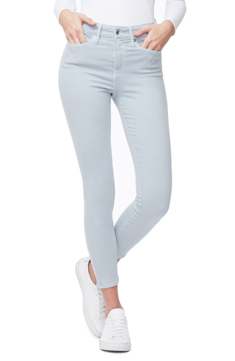 GOOD AMERICAN Good Legs High Waist Crop Skinny Jeans, Main, color, 401