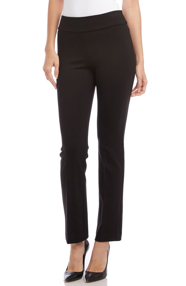 KAREN KANE Wonderstretch Slim Leg Pants, Main, color, BLACK