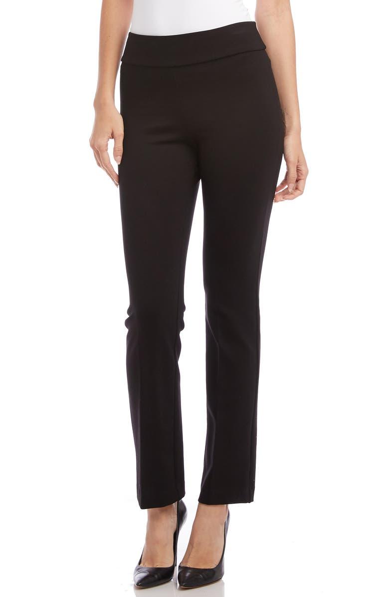 KAREN KANE Slim Leg Pants, Main, color, BLACK