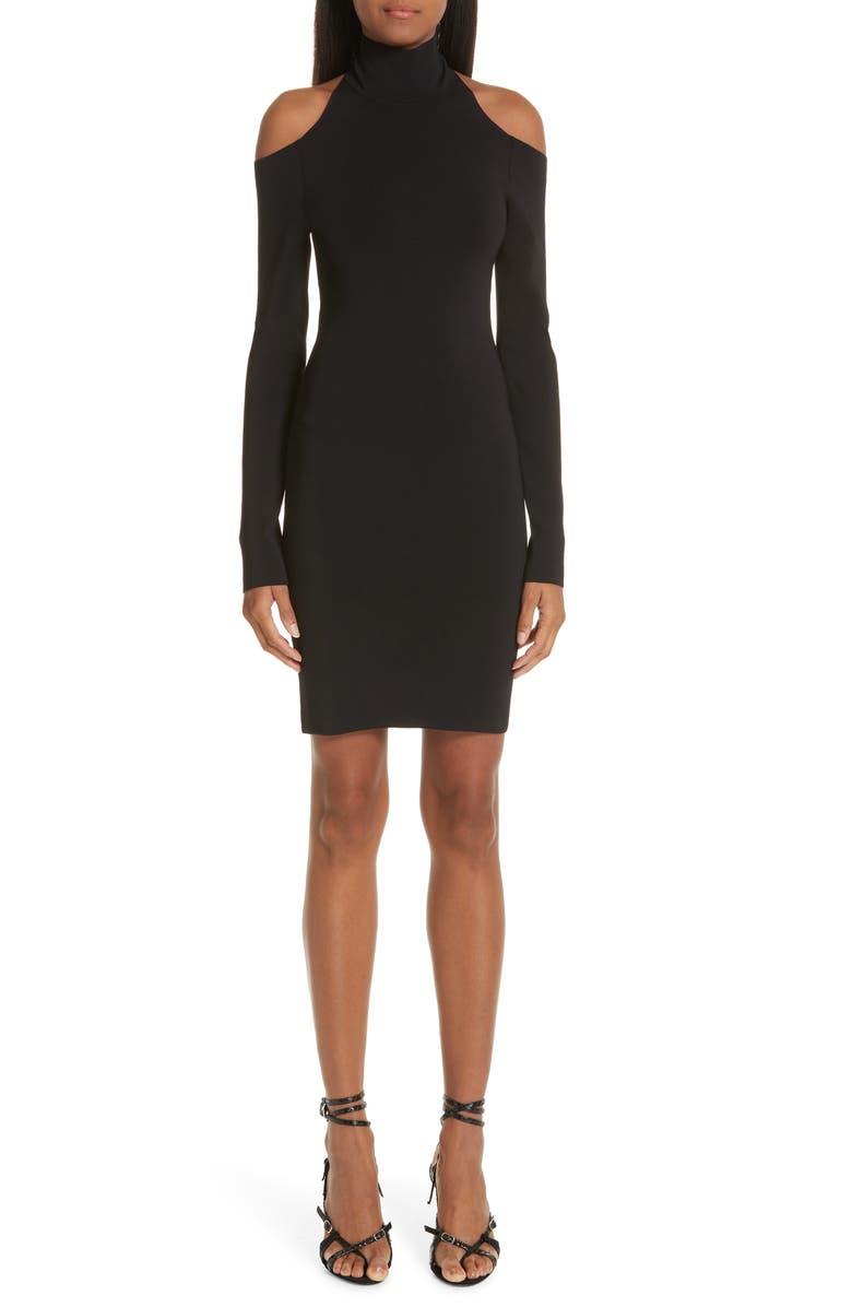 ALEXANDER WANG Cold Shoulder Body-Con Dress, Main, color, 001