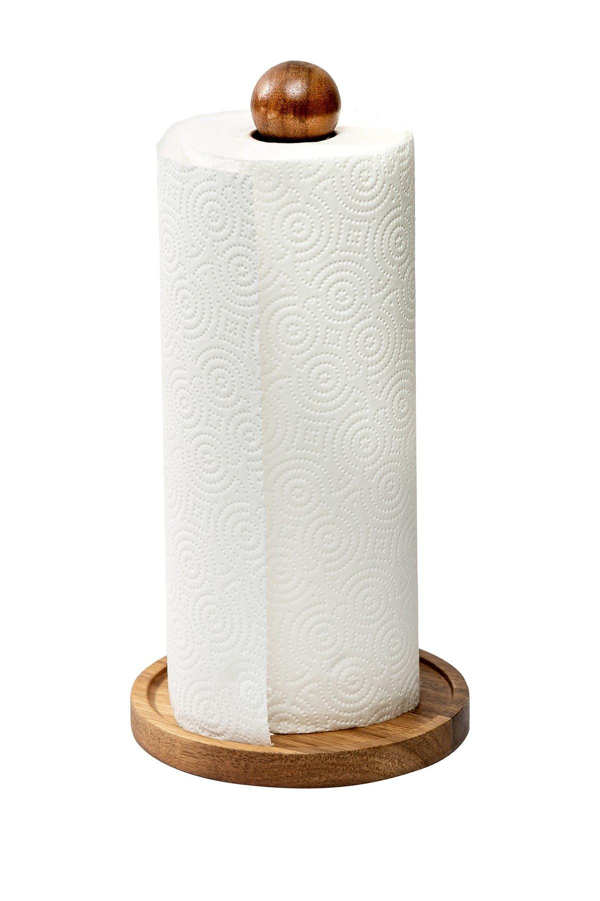 Image of Honey-Can-Do Acacia Paper Towel Holder