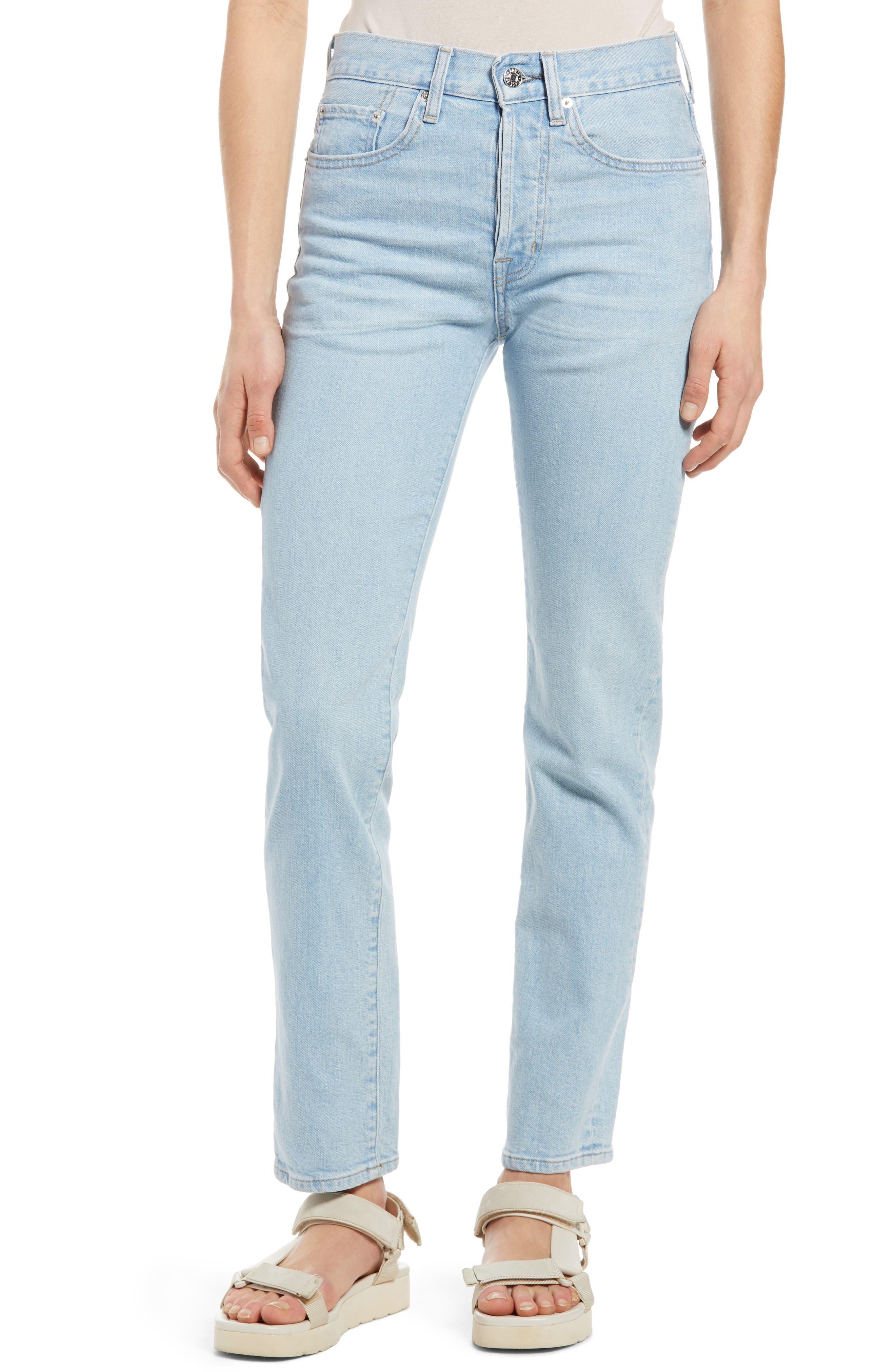 Hana High Waist Ankle Straight Leg Jeans