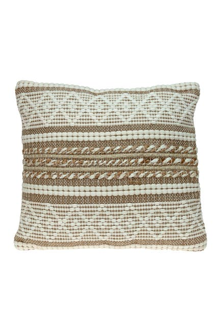 Image of Parkland Collection Lennon Transitional Ivory Throw Pillow