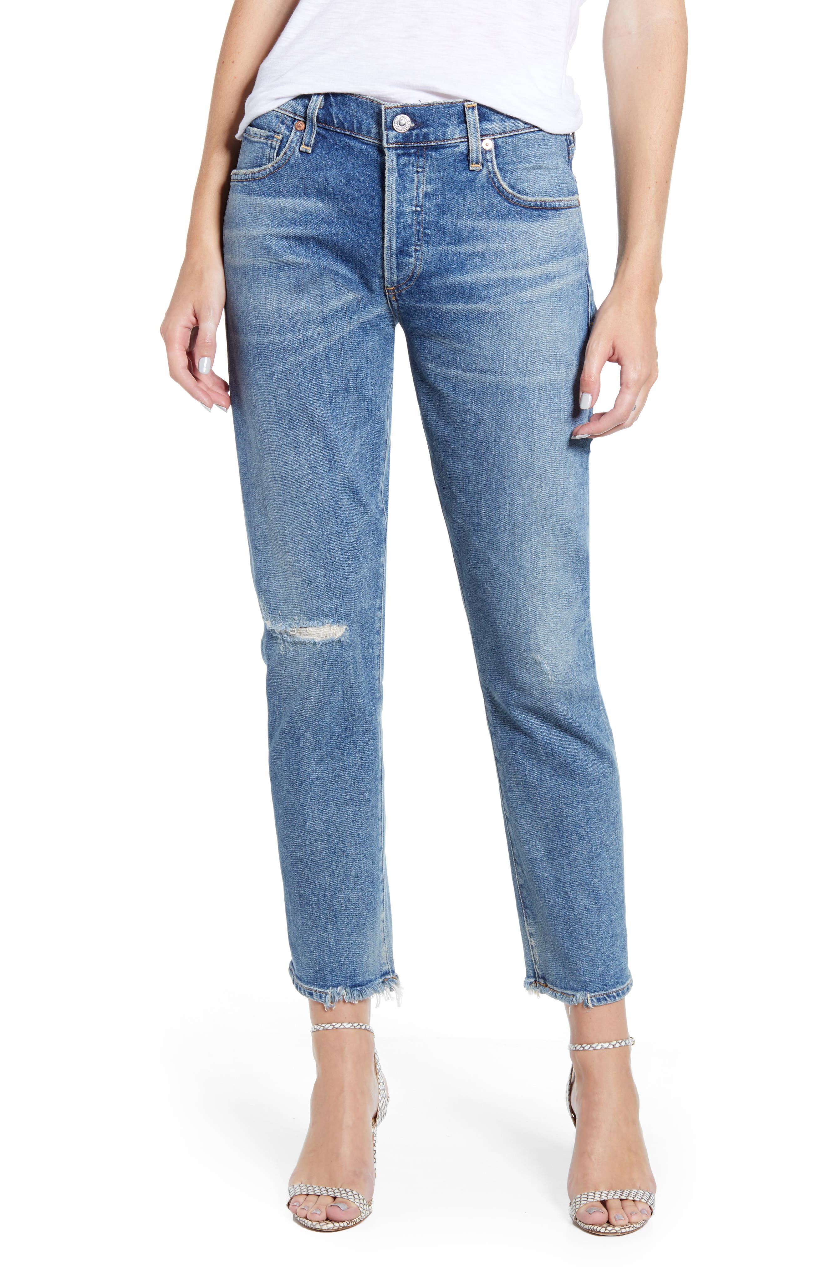 Citizens of Humanity Emerson Ripped Slim Fit Boyfriend Jeans (Cadence)