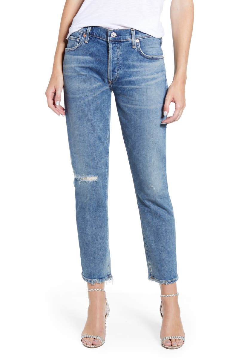 CITIZENS OF HUMANITY Emerson Ripped Slim Fit Boyfriend Jeans, Main, color, CADENCE