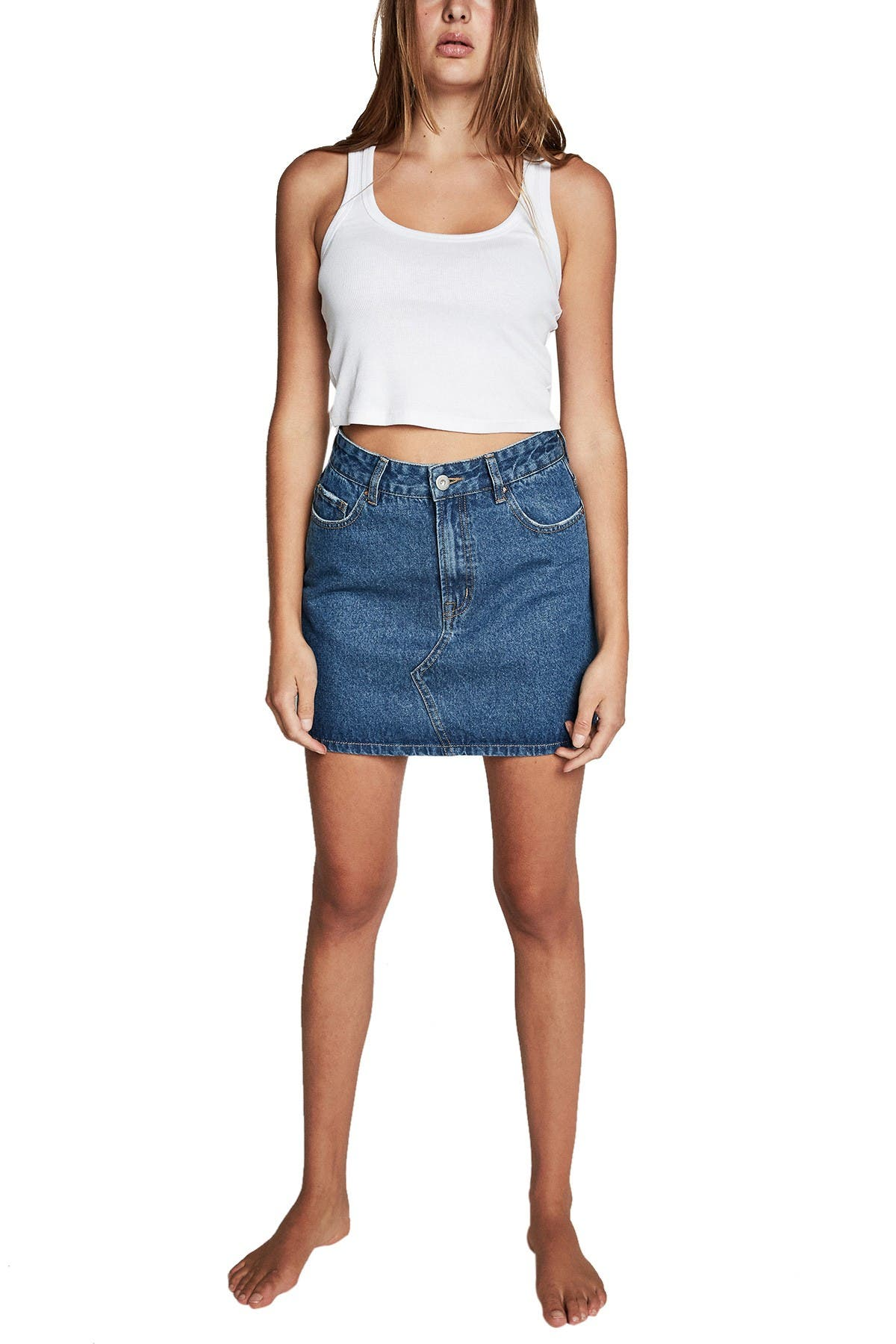 Image of Cotton On The Classic Denim Skirt