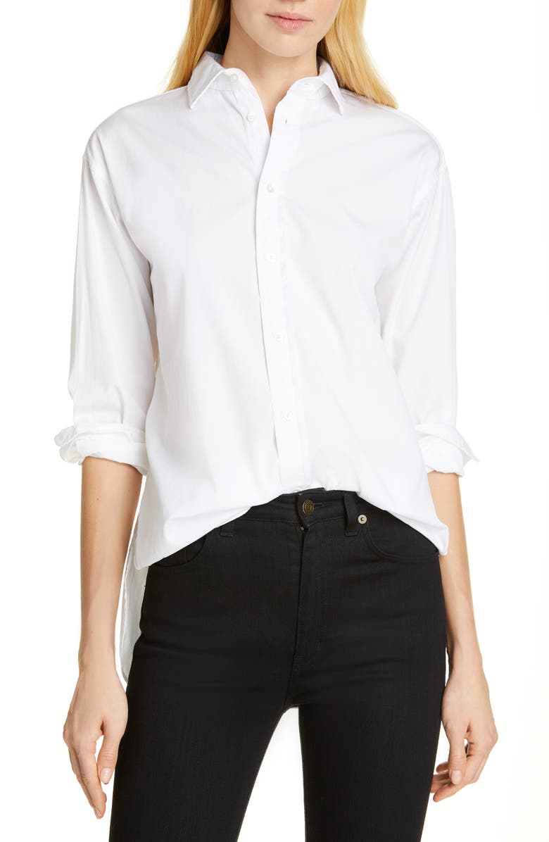 POLO RALPH LAUREN High/Low Shirt, Main, color, 100