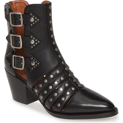 Coach Phoebe Studded Open Bootie, Black