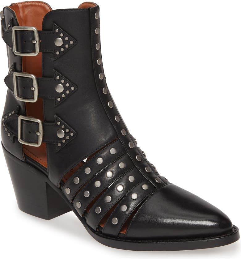 COACH Phoebe Studded Open Bootie, Main, color, 015