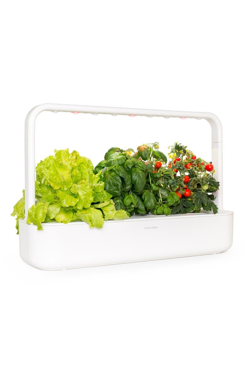 CLICK & GROW Smart Garden 9 Self Watering Indoor Garden, Main, color, WHITE