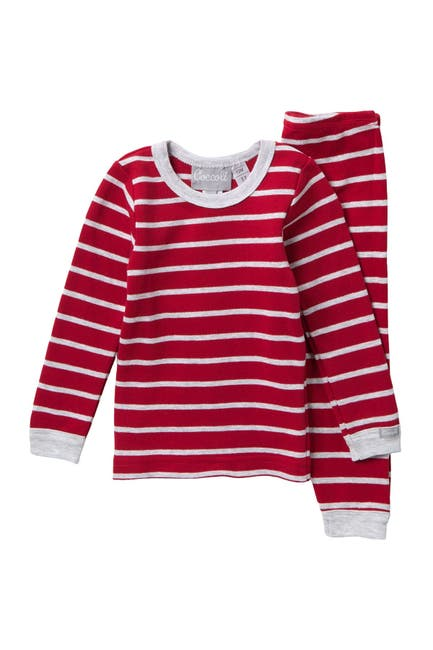Image of Coccoli Striped Knit Pajama Set