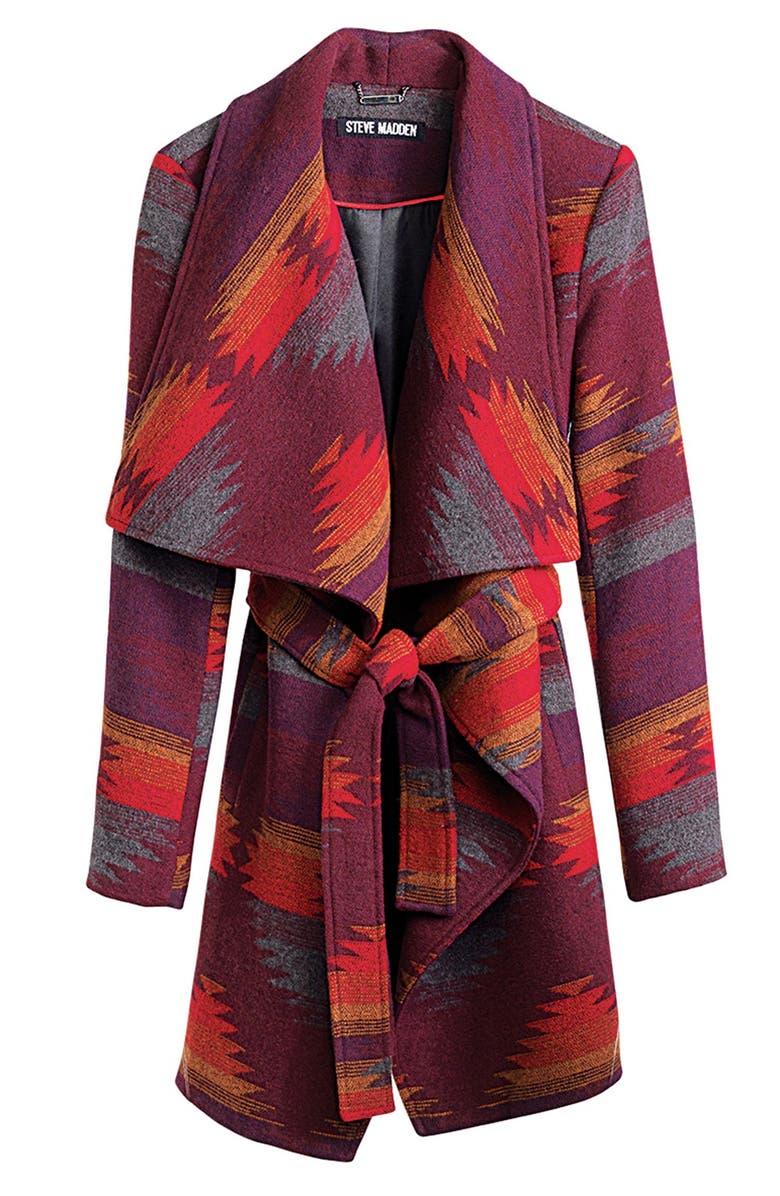 STEVE MADDEN Blanket Wrap Coat, Main, color, 600