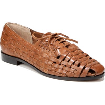 Sam Edelman Rishel Lace-Up Fisherman Flat, Brown