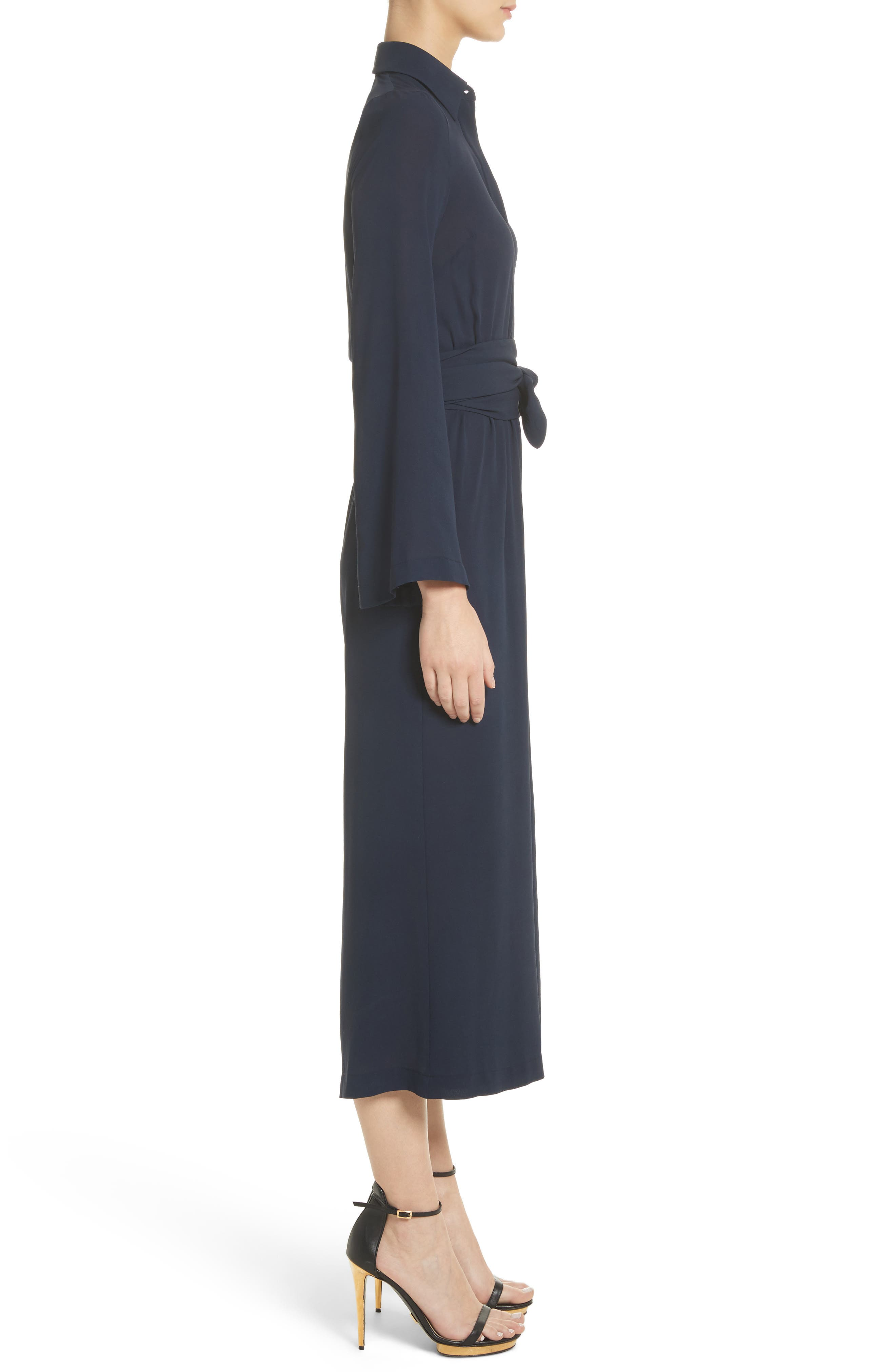 ,                             Belted Silk Jumpsuit,                             Alternate thumbnail 3, color,                             478
