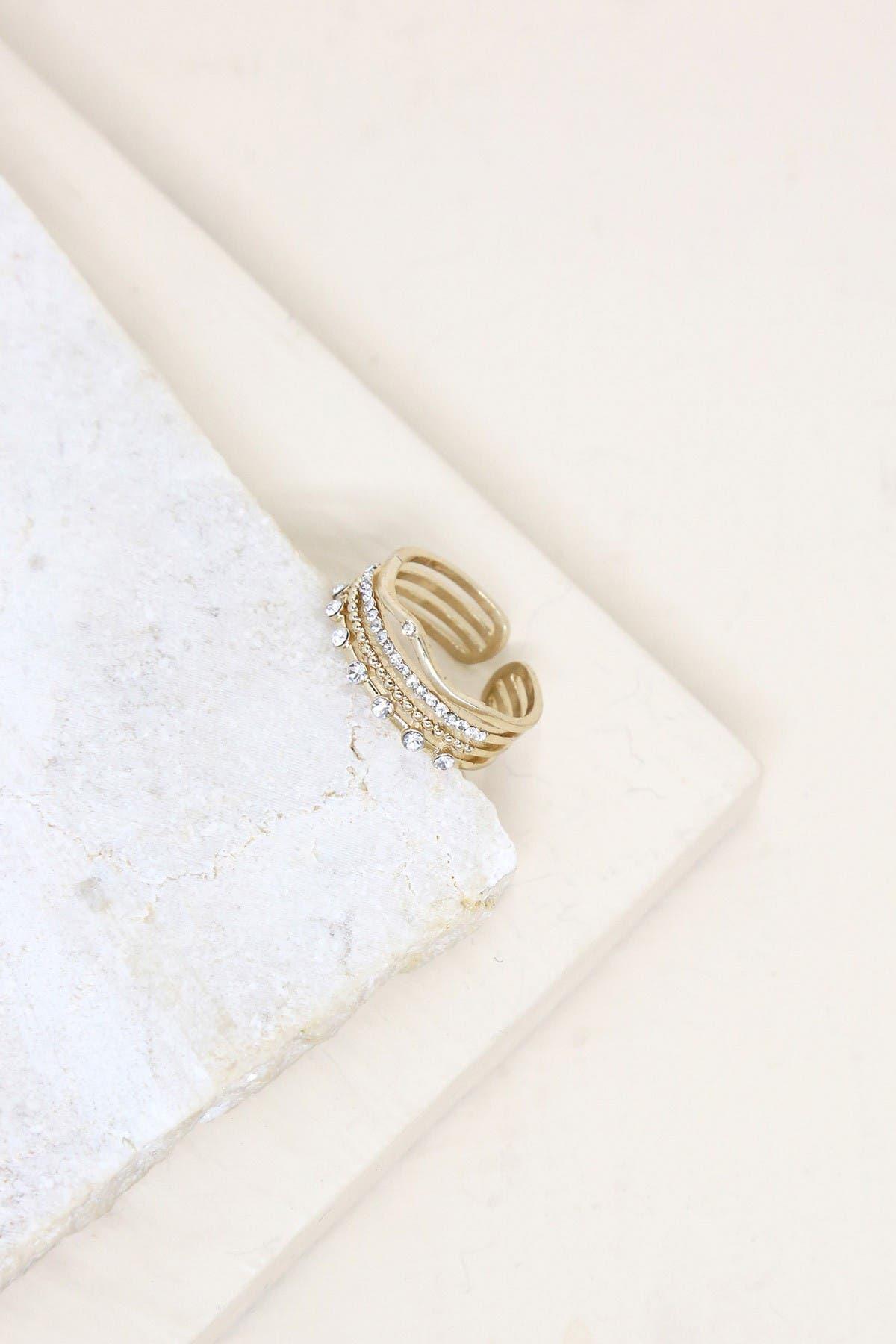 Image of Ettika Multi Stack Crystal Stone Ring Set - Size 8