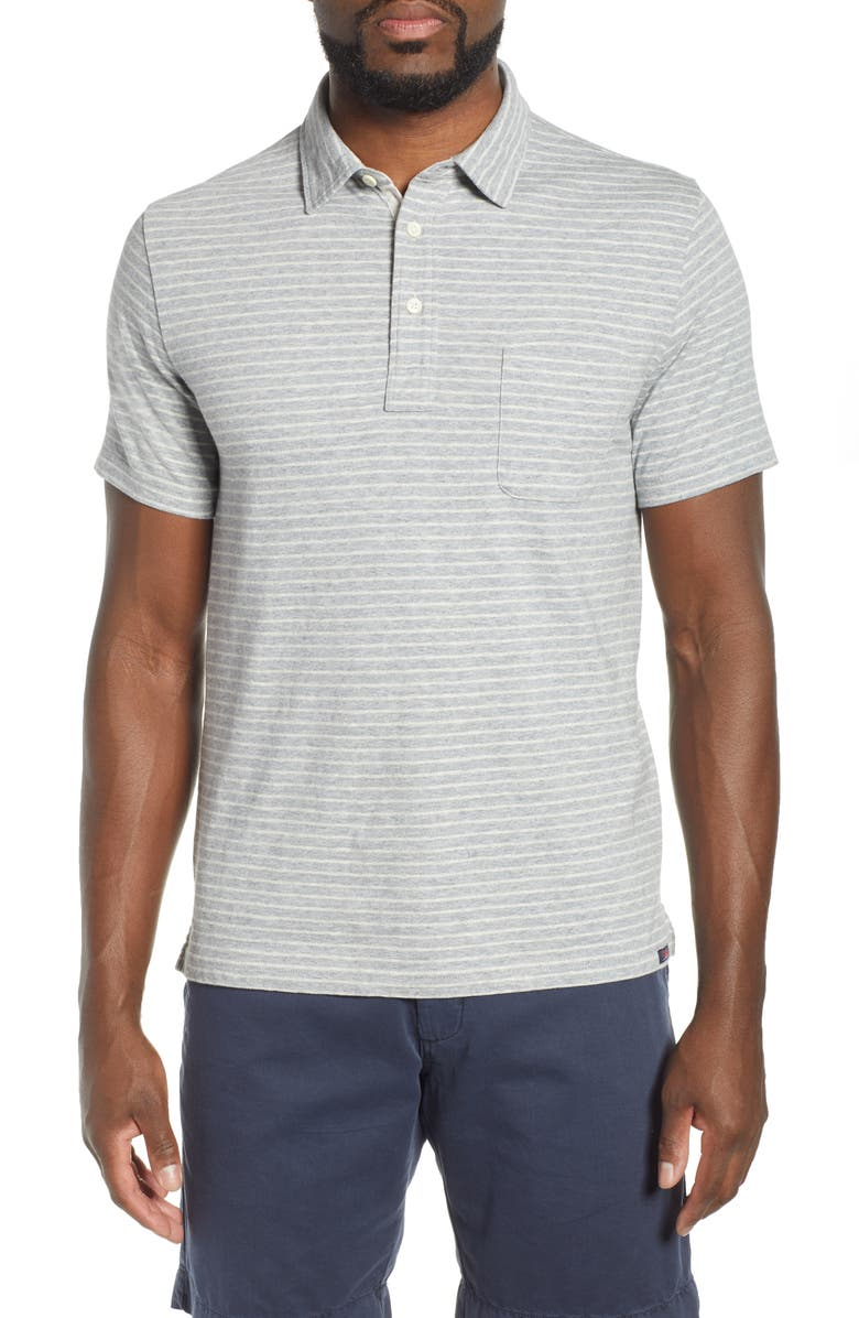 FAHERTY Bleecker Regular Fit Stripe Polo, Main, color, 030