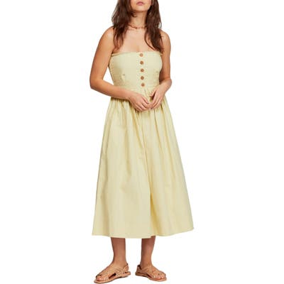 Free People Lilah Strapless Maxi Dress, Green