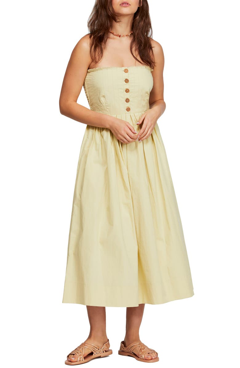 FREE PEOPLE Lilah Strapless Maxi Dress, Main, color, LIME