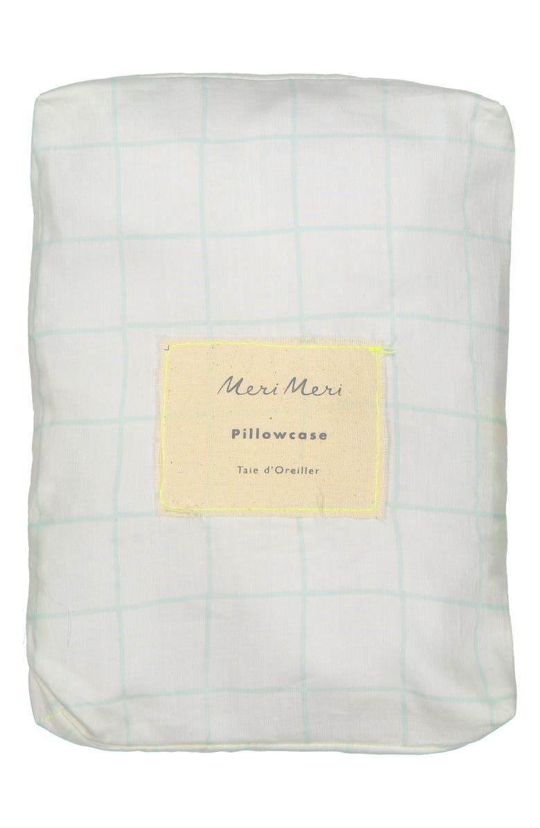 MERI MERI Organic Cotton Pillowcases, Main, color, MINT