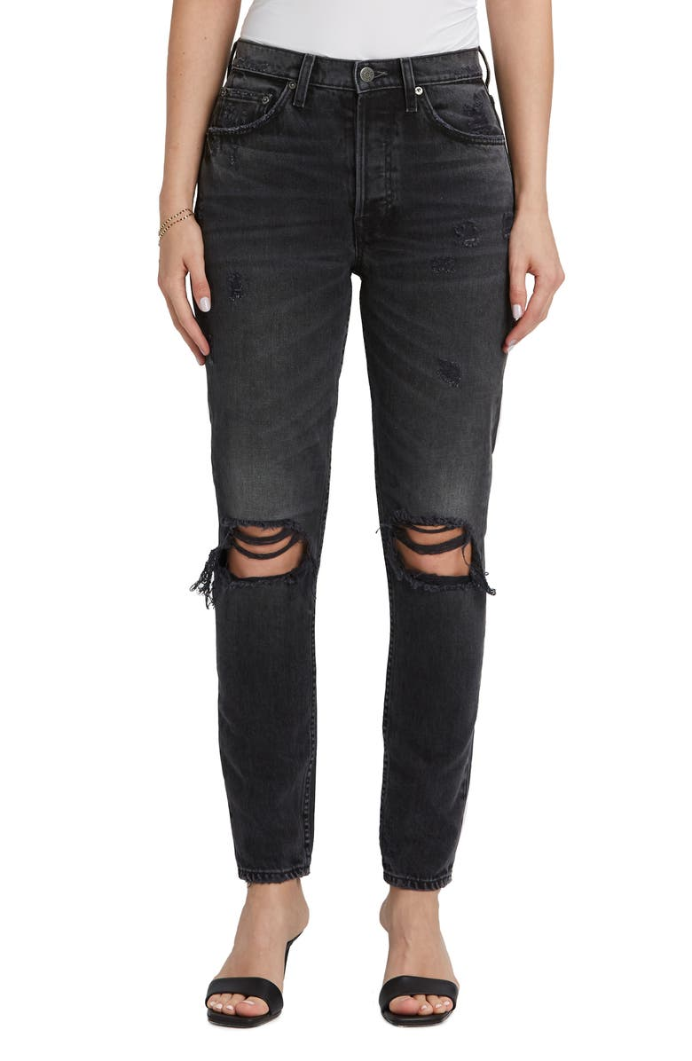 BOYISH JEANS The Billy Ripped High Waist Ankle Skinny Jeans, Main, color, 020