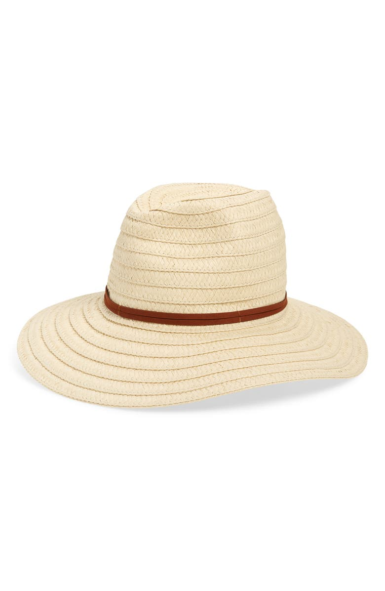 BP. Straw Floppy Hat, Main, color, NATURAL