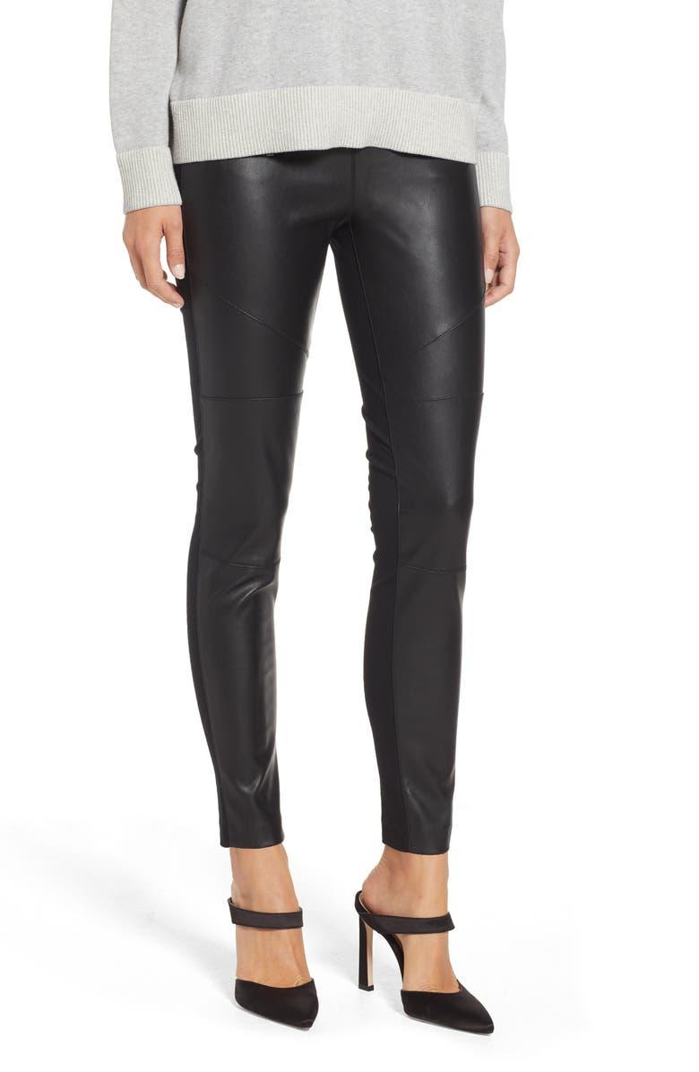 b3a4e7ec48572d MICHAEL Michael Kors Faux Leather Front Moto Leggings | Nordstrom