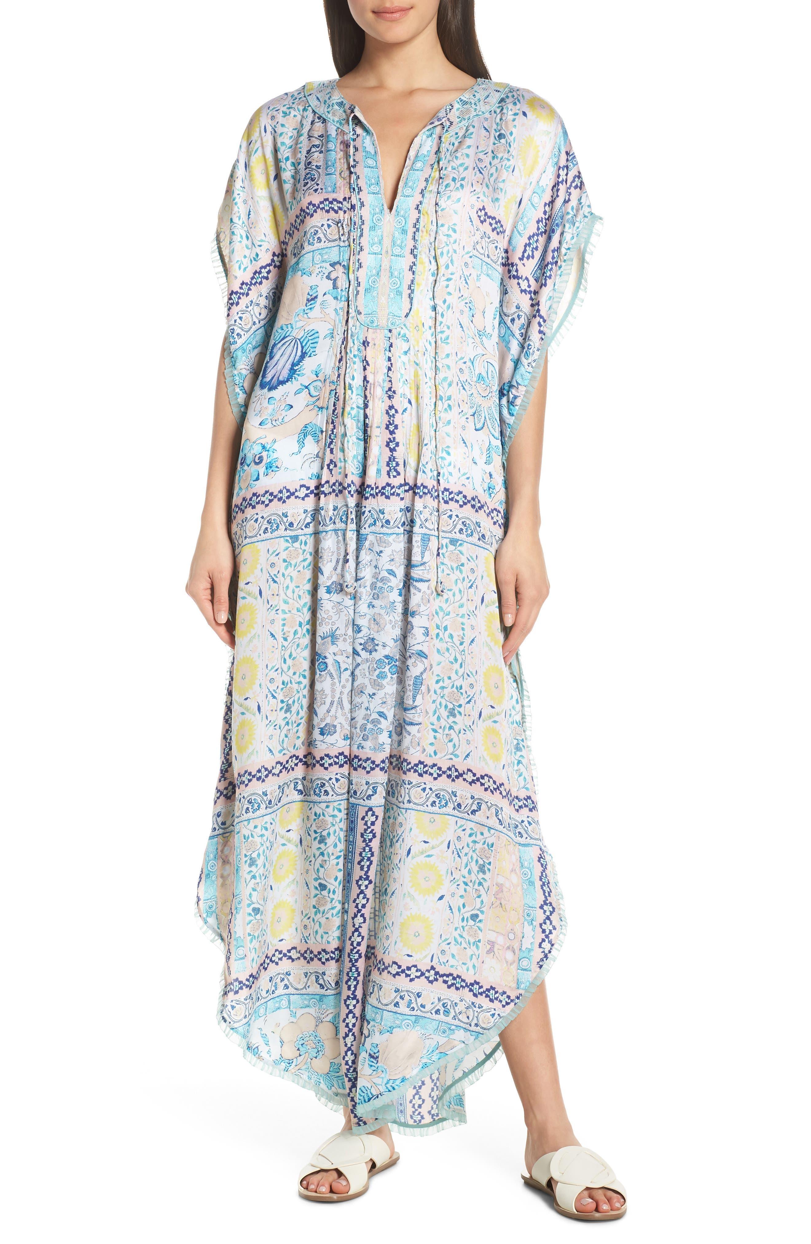 Hemant & Nandita Cover-Up Maxi Dress, Coral