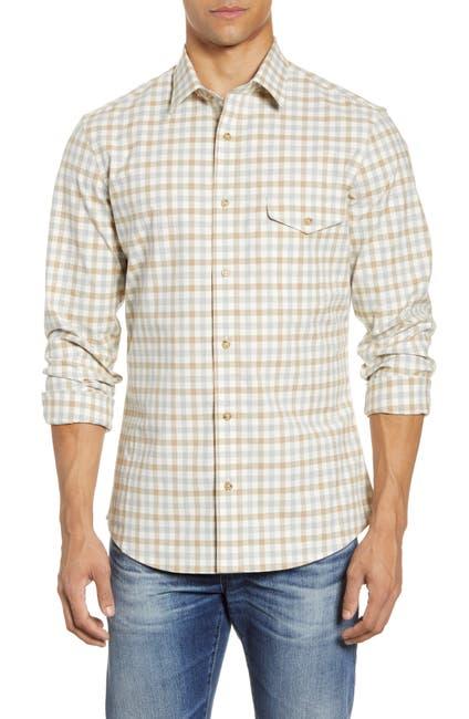 Image of NORDSTROM MEN'S SHOP Trim Fit Check Flannel Button-Up Shirt