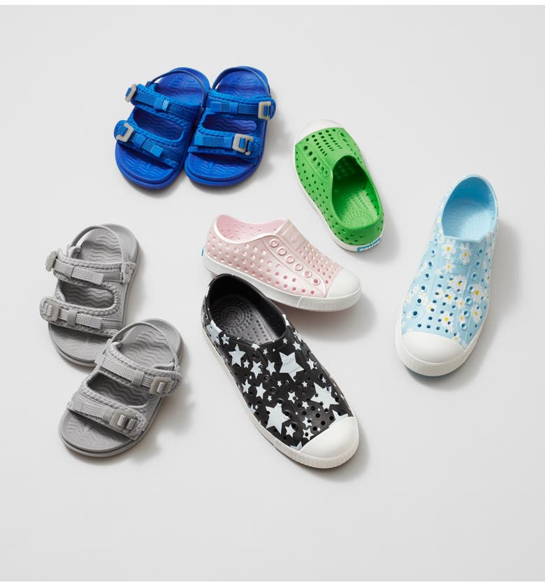 NATIVE SHOES Jefferson Water Friendly Slip-On Vegan Sneaker, Main, color, SHELL WHITE/ SHELL WHITE