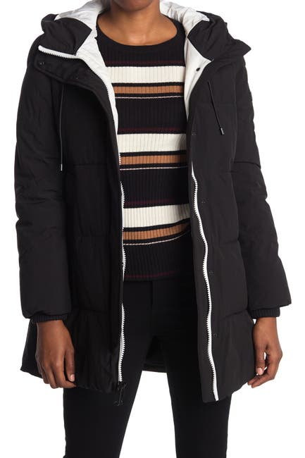 Image of Sam Edelman Hooded Zip Puffer Jacket
