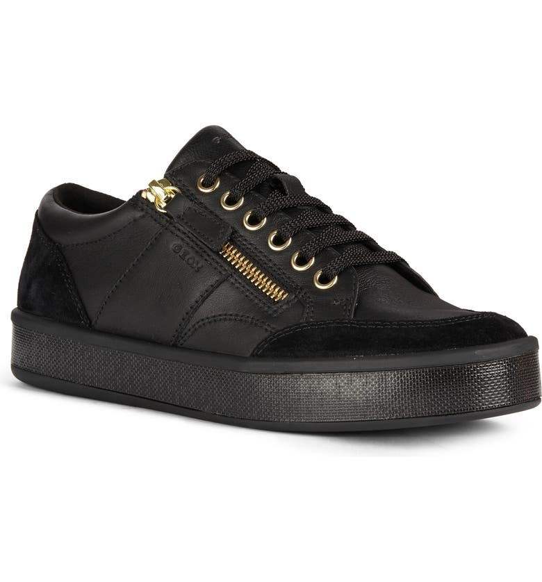 GEOX Leelu Studded Sneaker, Main, color, BLACK