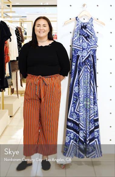 Scarf Print Maxi Dress, sales video thumbnail