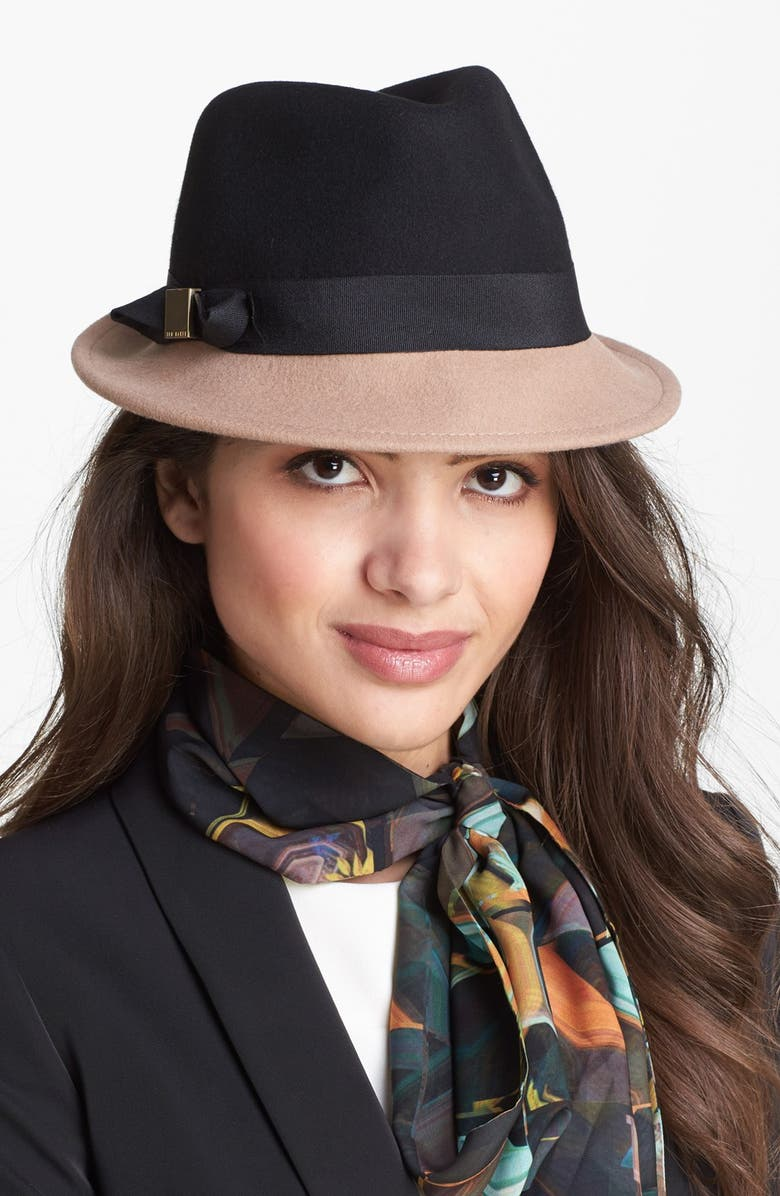TED BAKER LONDON Trilby Hat, Main, color, 001
