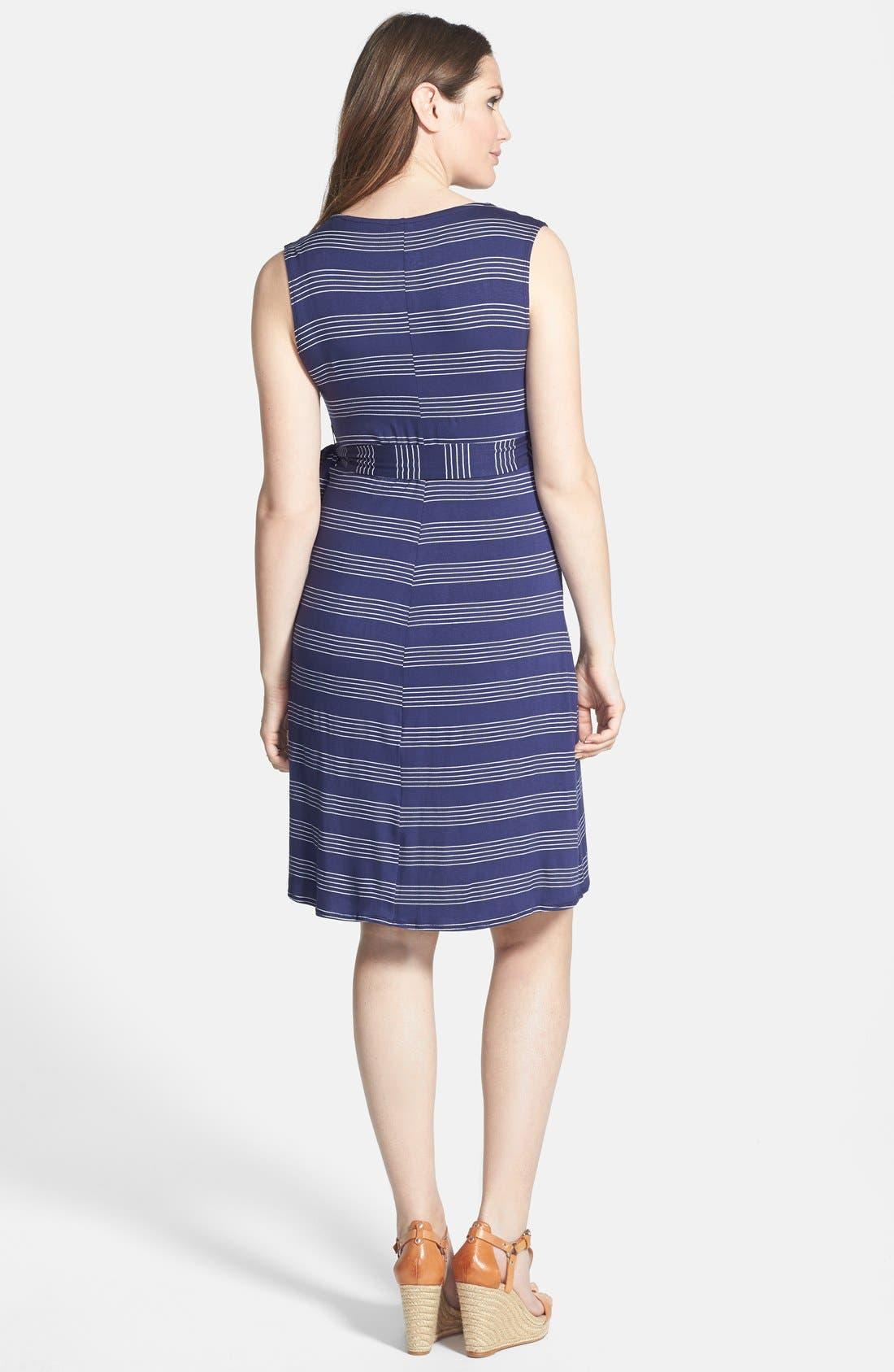 ,                             Sleeveless Wrap Maternity/Nursing Dress,                             Alternate thumbnail 4, color,                             460