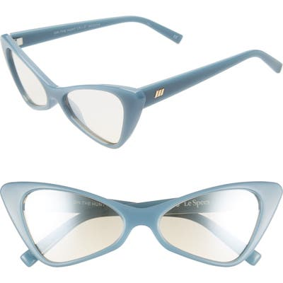 Le Specs On The Hunt 5m Cat Eye Sunglasses - Pacific Navy/ Champagne Mirror