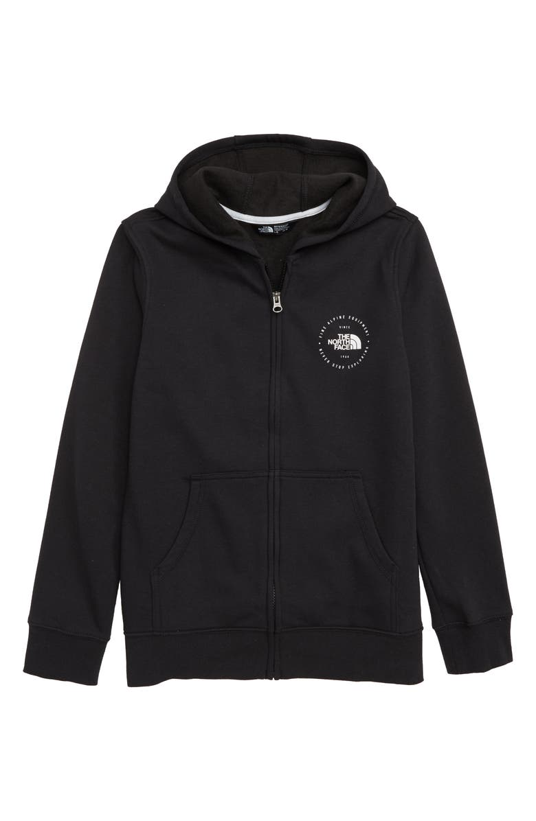 THE NORTH FACE Logowear Full Zip Hoodie, Main, color, 001