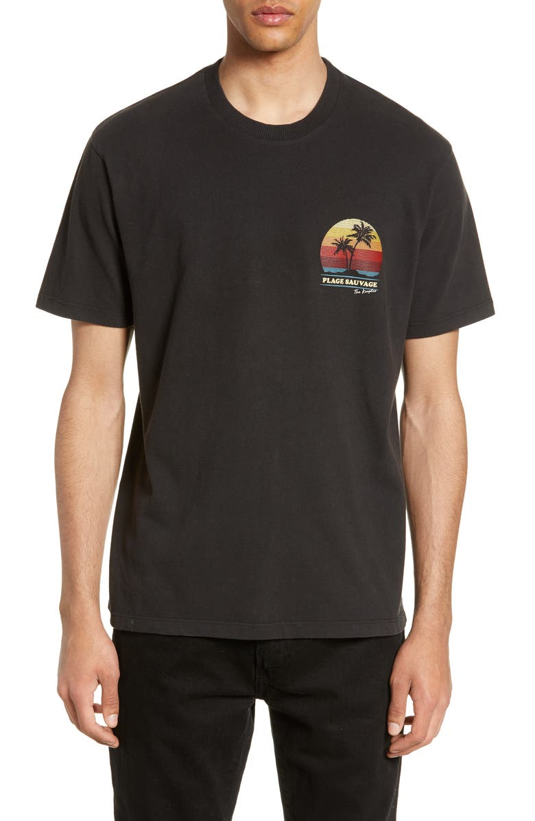 THE KOOPLES Plage Sauvage Graphic T-Shirt, Main, color, 001