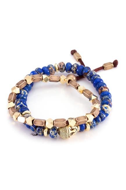 Image of Marz The Steel Buddhist Band Bracelet Set - Set of 2