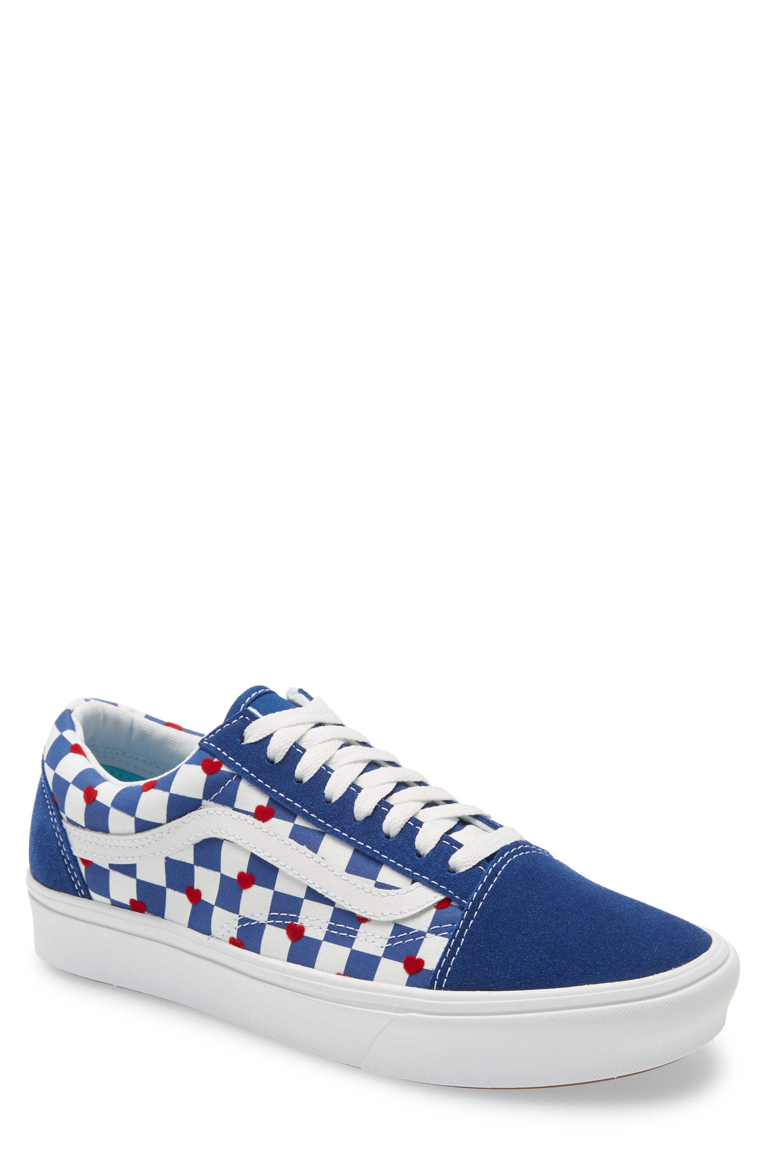 Mens Retro Shoes | Vintage Shoes & Boots Mens Vans Autism Awareness Comfycush Old Skool Sneaker $74.95 AT vintagedancer.com
