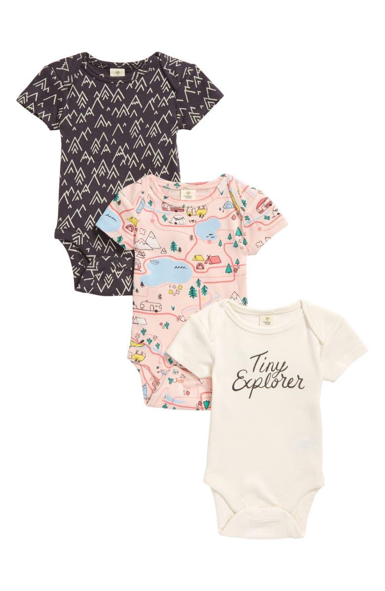 TUCKER + TATE Kids' Assorted 3-Pack Bodysuits, Main, color, EXPLORER PACK
